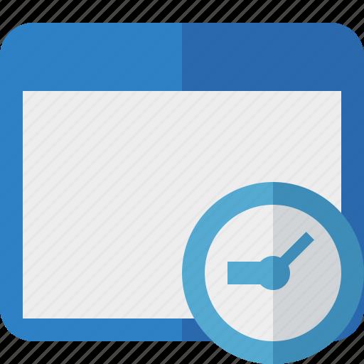 application, clock, window icon