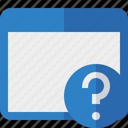 application, help, window icon