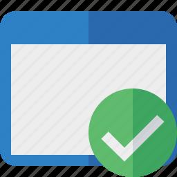 application, ok, window icon