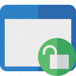 application, unlock, window icon