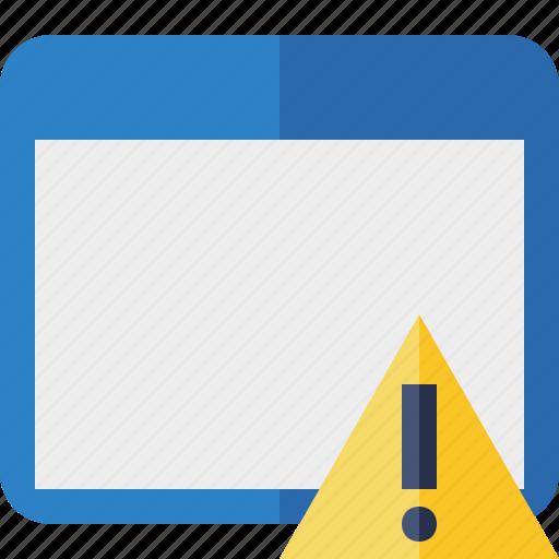 application, warning, window icon