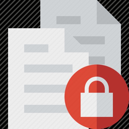 copy, documents, duplicate, files, lock icon