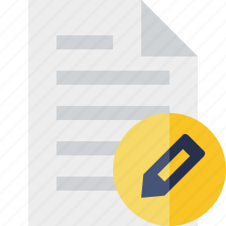 document, edit, file, page, paper icon