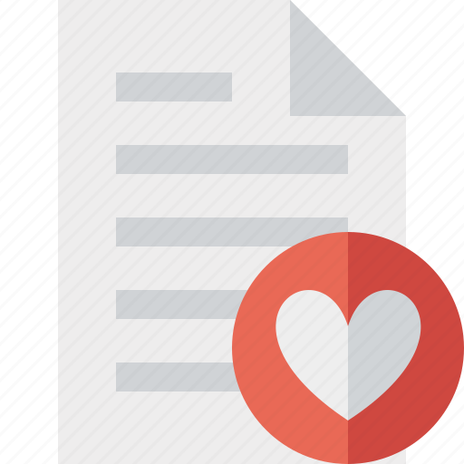 document, favorites, file, page, paper icon
