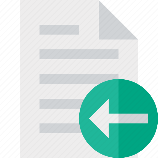 document, file, page, paper, previous icon