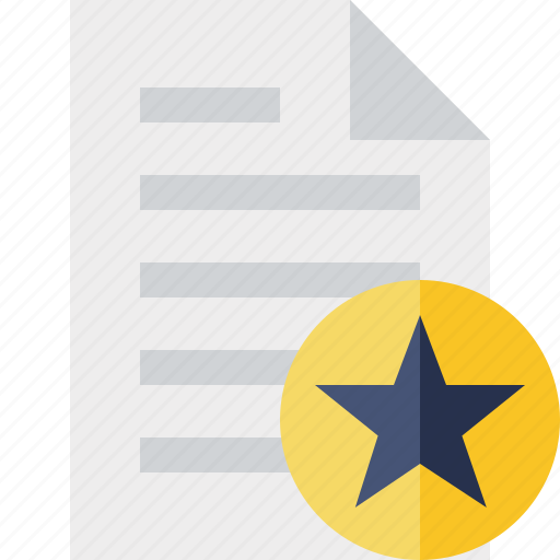 document, file, page, paper, star icon