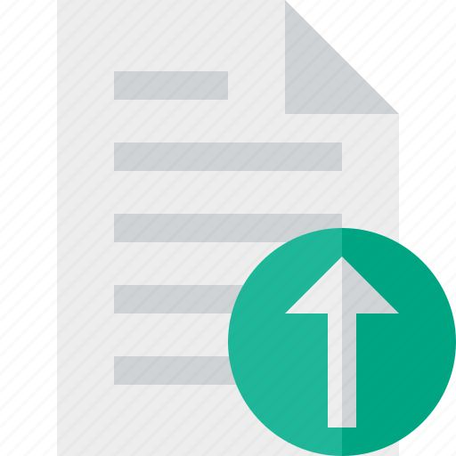 document, file, page, paper, upload icon