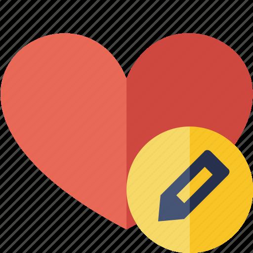 edit, favorites, heart, love icon