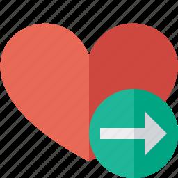 favorites, heart, love, next icon