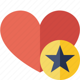 favorites, heart, love, star icon