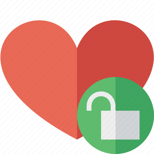 favorites, heart, love, unlock icon
