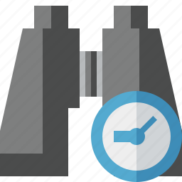 binocular, clock, find, search, spyglass icon