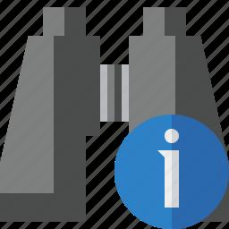binocular, find, information, search, spyglass icon