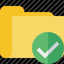 category, folder, ok icon