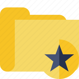 category, folder, star icon