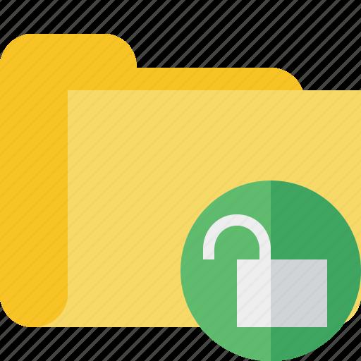category, folder, unlock icon