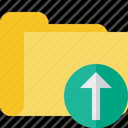 category, folder, upload icon