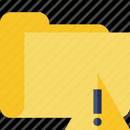category, folder, warning icon