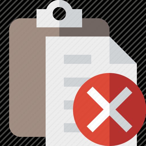 cancel, clipboard, copy, paste, task icon