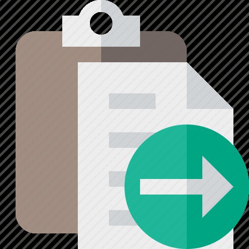 clipboard, copy, next, paste, task icon
