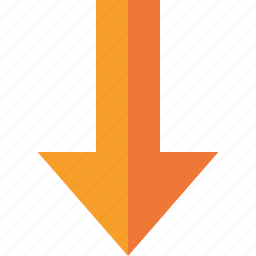 arrow, direction, down, download, upload, yellow icon