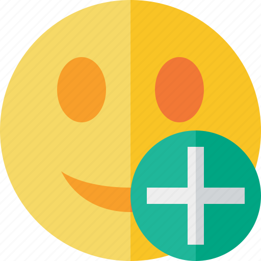Add, emoticon, emotion, face, smile icon - Download on Iconfinder