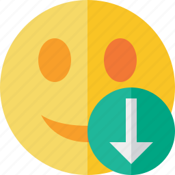 download, emoticon, emotion, face, smile icon