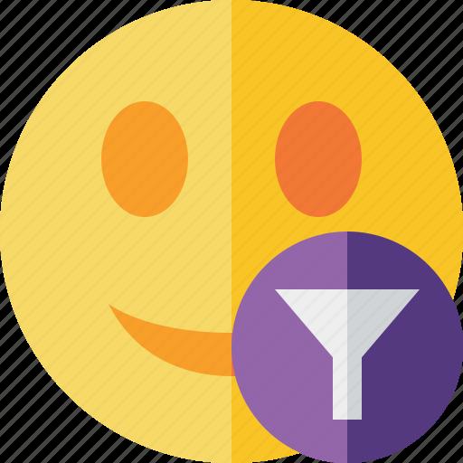 emoticon, emotion, face, filter, smile icon