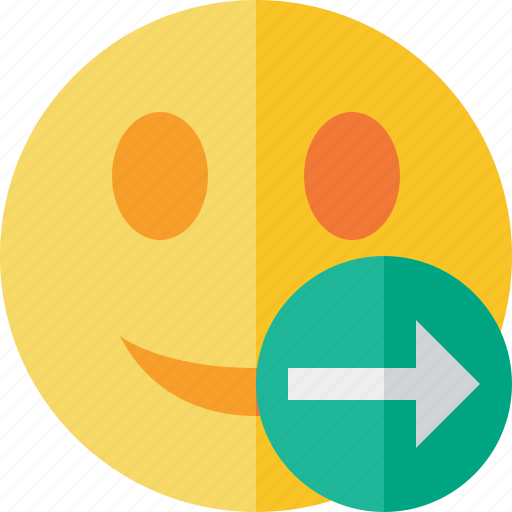emoticon, emotion, face, next, smile icon
