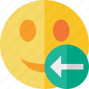 emoticon, emotion, face, previous, smile icon