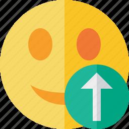 emoticon, emotion, face, smile, upload icon