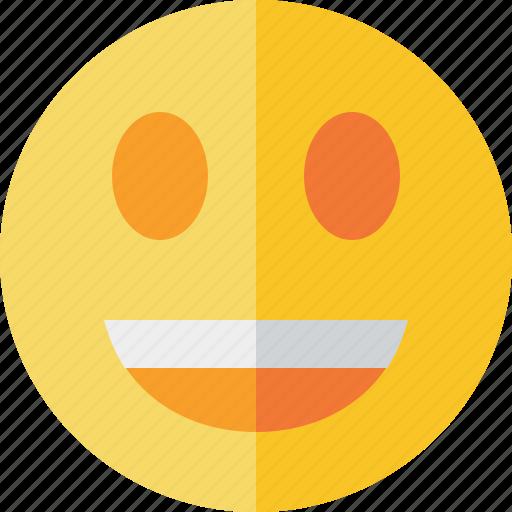emoticon, emotion, face, laugh, smile icon