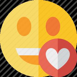 emoticon, emotion, face, favorites, laugh, smile icon