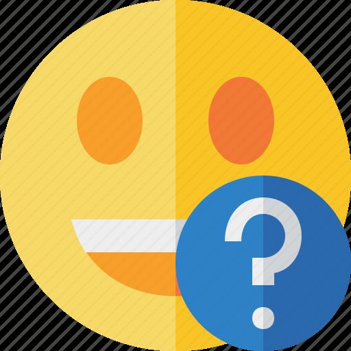 emoticon, emotion, face, help, laugh, smile icon