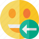 emoticon, emotion, face, laugh, previous, smile icon