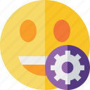emoticon, emotion, face, laugh, settings, smile