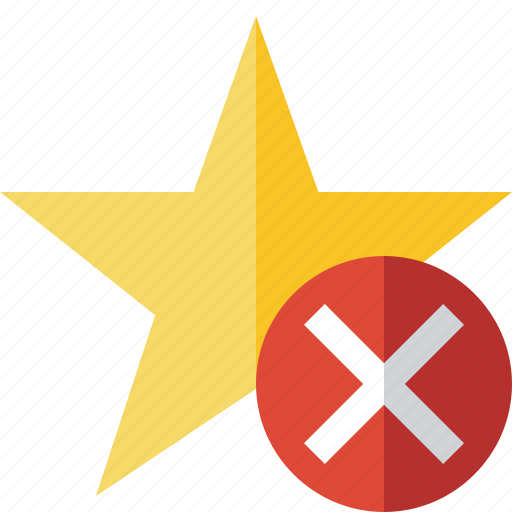achievement, bookmark, cancel, favorite, rating, star icon