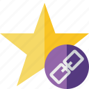 achievement, bookmark, favorite, link, rating, star