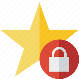 achievement, bookmark, favorite, lock, rating, star icon
