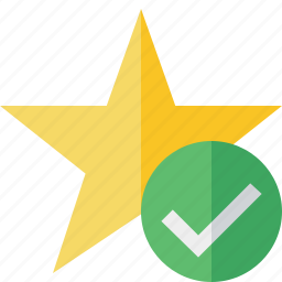 achievement, bookmark, favorite, ok, rating, star icon