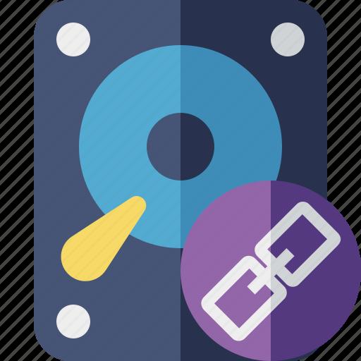 Data, disk, drive, hard, hdd, link, storage icon - Download on Iconfinder