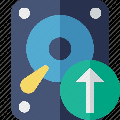 Data, disk, drive, hard, hdd, storage, upload icon - Download on Iconfinder