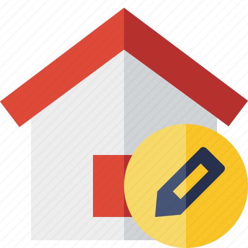 address, building, edit, home, house icon