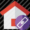 address, building, home, house, link