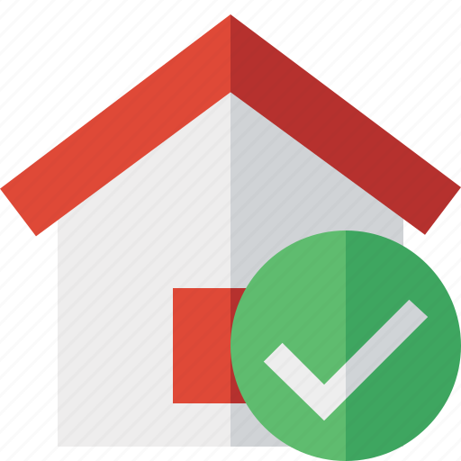 address, building, home, house, ok icon