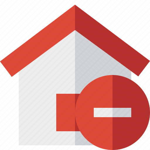 address, building, home, house, stop icon