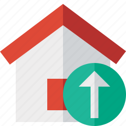 address, building, home, house, upload icon