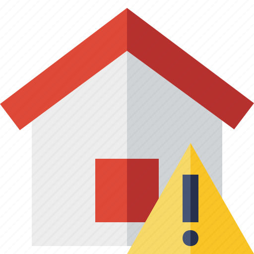 Address, building, home, house, warning icon - Download on Iconfinder
