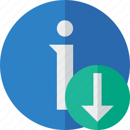 about, data, details, download, help, information icon