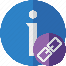 about, data, details, help, information, link icon
